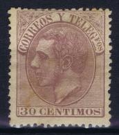 Spain: 1879   Yv Nr  194   MH/* Heavy Hinged - Nuevos