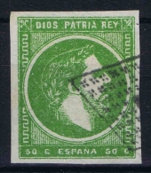 Spain: Don Carlos Basques, 1873 Nr  4 Used  Signed/ Signé/signiert/ Approvato  BRUN - Carlistes