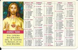 CAL213 - CALENDARIETTO 1986 - PIA OPERA SALESIANA DEL S. CUORE - Formato Piccolo : 1981-90