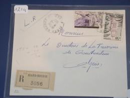 ALGERIE - EA Sur Lettre Recommandée D´Alger De Nov 62 Avec Timbre Sans Surcharge - Détaillons Collection - Lot N° 1214 - Algeria (1924-1962)