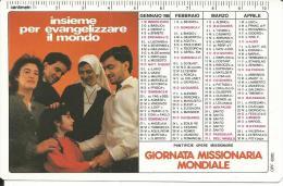 CAL214 - CALENDARIETTO 1986 - PONTIFICIE OPERE MISSIONARIE - Formato Piccolo : 1981-90