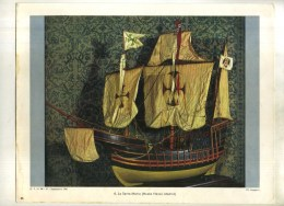 - REPRO PHOTO DE LA SANTA MARIA (musée Naval , Madrid) . - Boats