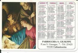 CAL540 - CALENDARIETTO 1987 - PARROCCHIA S. GIUSEPPE - CALTANISSETTA - Formato Piccolo : 1981-90