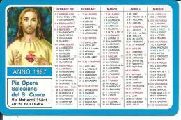 CAL543 - CALENDARIETTO 1987 - PIA OPERA SALESIANA DEL S. CUORE - Formato Piccolo : 1981-90