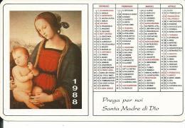 CAL216 - CALENDARIETTO 1988 - LIBRERIA EDIZIONI PAOLINE - TRENTO - Formato Piccolo : 1981-90