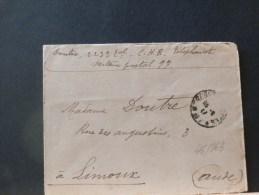 46/863   LETTRE DE MILITAIRE 1917 POUR LIMOUX  1917 - Marcofilie (Brieven)