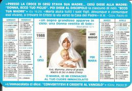 CAL219 - CALENDARIETTO 1988 - GIOVENTU' ARDENTE MARIANA - Formato Piccolo : 1981-90