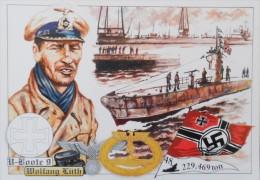 WW2 KRIEGSMARINE UBOOT U 9 WOLFGANG LUTH 48 - 229.469 TONS - War 1939-45