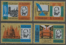 Sharjah. 1966 Churchill Commemoration (2nd Series). MH Complete Set. SG 201-204 - Sharjah