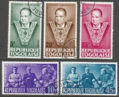 Togo. 1965 Churchill Commemoration. Used Complete Set. SG 423-427 - Togo (1960-...)