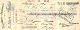 Lettre Change  1/5/1916 H FRANCOIS & MARTEAU Bijouterie Joaillerie Paris Pour Aurillac Cantal - Lettres De Change
