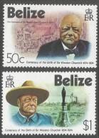 Belize. 1974 Birth Centenary Of Winston Churchill. MH Complete Set. SG 396-397 - Belize (1973-...)