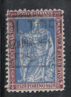 3RG655 - REGNO FILIBERTO 1928 , 20 Cent N. 226 Dent 11 Usato - Usati