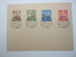Ersttagsbrief , FDC , RAD ,  auf  Karte vom  16.9.1943