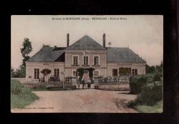 Environs De MORTAGNE (Orne) - REVEILLON - Ecole Et Mairie - Animée Et Colorisée  (C) - France