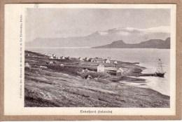 ISLANDE - ESKEFJORD - VOILIER - COLLECTION DES OEUVRES DE LA MER - avant 1904