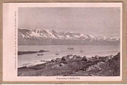 ISLANDE - VOPNAFJORD - VUE - VOILIER - COLLECTION DES OEUVRES DE LA MER - avant 1904