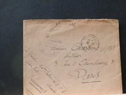 46/881    LETTRE  DE MILITAIRE AVEC CONTENU  1915  OBL VINCENNES - Marcophilie (Lettres)