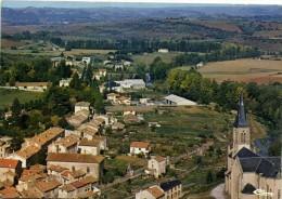 """CAMARES (Aveyron) Le Quartier De La Route De St Affrique Vu De La Viege En 2e Plan """"Les Rougiers"""" Colorisée Recto Verso - Autres Communes"""