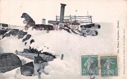 (ALASKA) Une Maison Esquimau - Chiens - 2 SCANS - Etats-Unis