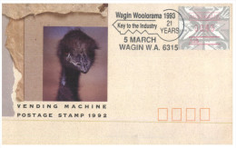 (678) Australia FDC Cover - 1992 - Wagin - Vending Machine Postage Stamp - Premiers Jours (FDC)