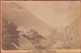 EAUX CHAUDES (64) - PHOTO TIRAGE ALBUMINE COLLEE SUR CARTON DUR - 16,5 X 10,5 Cms - Photographs