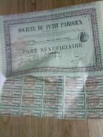 Vieux Papier , Genre Action Porteur  :  PARIS ,  Ets  DUPUY , Société Du Petit  Parisien - Actions & Titres