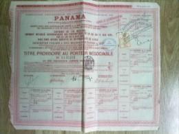 Vieux Papier , Genre Action Porteur  : PANAMA , Canal  Interocéanique - Actions & Titres