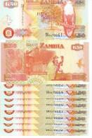 Zambie Lot De 10 Billets 50 Kwacha 2007 NEUF - Zambia