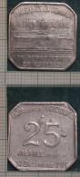 M_p> Gettone Francese Trasporti 25 Centesimi 31 Decembre 1921 In Alluminio - Monetari / Di Necessità