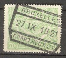 België/Belgique OBP SP/CF Nr TR110 Afgestempeld/cachet Bruxelles Chartreux 21.Zie/voir Scan - Bahnwesen