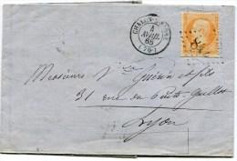 SAONE ET LOIRE De CHALON SUR SAONE GC 842 Sur N°23 Sur LAC Du 4/04/1868 En Double Port - 1849-1876: Classic Period
