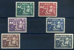 PORTUGAL 1947 N° 696/ 701 MLH (trace De Charnière) - 1910 - ... Repubblica
