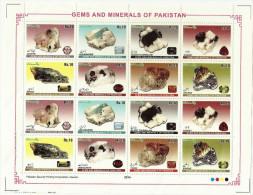 PAKISTAN.MNH 2014 GEMS AND MINERALS OF PAKISTAN. FULL SHEET