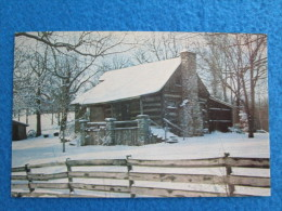 Winter In The Shepherd Of The Hills Country. Old Matt's Cabin On Highway 76 West Of Branson.  (Harold Bell Wright) - Branson