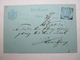 1894 , BLORA , Einzeiler Auf Karte - Nederlands-Indië