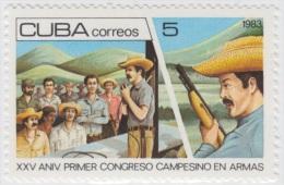 1983.18- * CUBA 1983. MNH. CONGRESO CAMPESINO EN ARMAS. MILITIA ARMY. - Unused Stamps