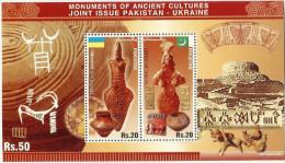 PAKISTAN.MNH MS 2014 MONUMENTS OF ANCIENT CULTURES JOINT ISSUE PAKISTAN-UKRAINE MS