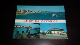 C-24060 SALUTI DA CATTOLICA PANORAMA SPIAGGIA DELFINARIO DELFINO - Rimini