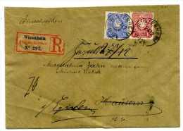 LETTRE RECOMMANDEE  WINTZENHEIM POUR EGISHEIM / ELSASS DEUTSCHLAND / RETOUR A L´ENVOYEUR / 1888 EGUISHEIM - Marcophilie (Lettres)
