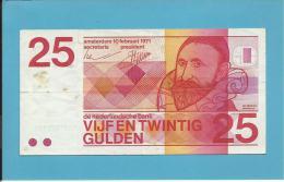 NETHERLANDS -  25 GULDEN - 10.02.1971 - Pick 92.a - JAN PIETERSZ SWEELINCK - 2 Scans - [2] 1815-…: Königreich Der Niederlande