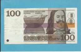 NETHERLANDS -  100 GULDEN - 14.05.1970 - Pick 93 - MICHIEL ADRIAENSZ DE RUYTER - 2 Scans - [2] 1815-… : Kingdom Of The Netherlands