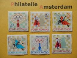 Romania 1966, SPORTS CHESS SCHACH ÉCHECS SCHAKEN: Mi 2478-83, ** - Schaken