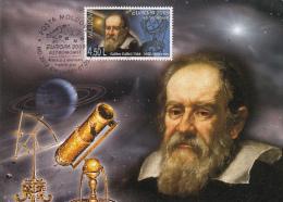 GALILEO GALILEI, ASTRONOMY, TELESCOPE, CM, MAXICARD, CARTES MAXIMUM, OBLIT FDC, 2009, MOLDOVA - Astrology