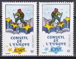 126-127Conseil De L'Europe (paire Indivisible) - Service
