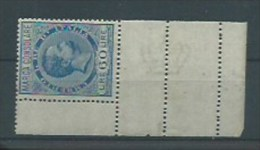 MARCA DA BOLLO  MARCHE CONSOLARI 1895 NUOVE CON PIENA GOMMA LIRE 60 Adf - Steuermarken