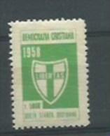 MARCA DA BOLLO   - 1958 DEMOCRAZIA CRISTIANA  L. 5000 Quota Stampa Quotidiani - Steuermarken