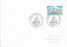 TIMBRE N° 1856  -  1ER JOUR   -  1975  -  PONT DE SAINT NAZAIRE -  TIMBRE SEUL SUR LETTRE - Commemorative Postmarks