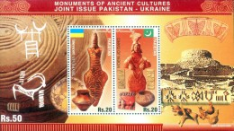 PAKISTAN MNH 2014 LIMITED RARE MS JOINT ISSUE WITH UKRAINE MOUNMENTS OF ANCIENT CULTURES MOEN JO DARO TRYPILLIA - Pakistan