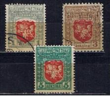LT+ Litauen 1919 Mi 58-60 Wappen - Lituanie